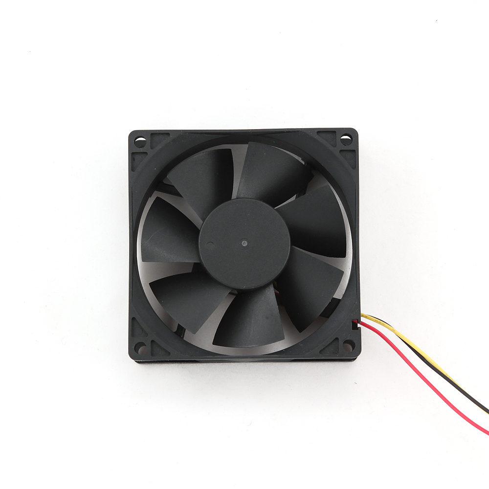 Ventilator voor PC behuizing, kogellager, 80x80x25mm