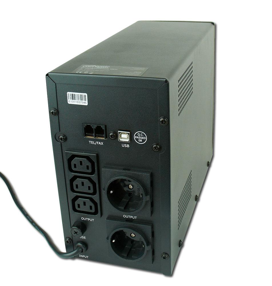 Noodstroomvoeding met LCD, 1200 VA